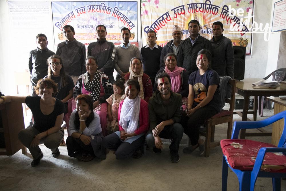 Travel log - RatoBaltin at the Chilkhaya school